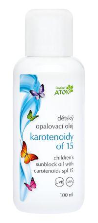 Детское масло для загара с каротиноидами SPF15
