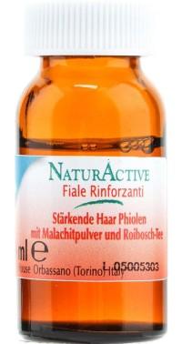 Комплекс для укрепления волос NaturActive с микрочастицами малахита 10 мл