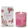 Ароматизированная свеча Розовое трио, 37 часов